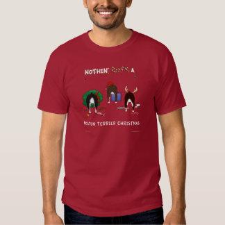 Nothin' Butt A Boston Terrier Christmas T-Shirt