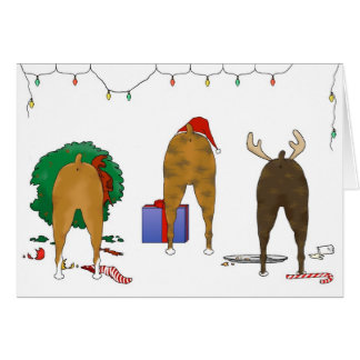 Nothin' Butt A Boxer Christmas Greeting Card
