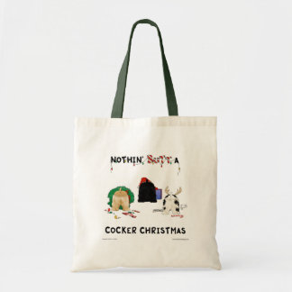 Nothin Butt A Cocker Christmas Tote Bags