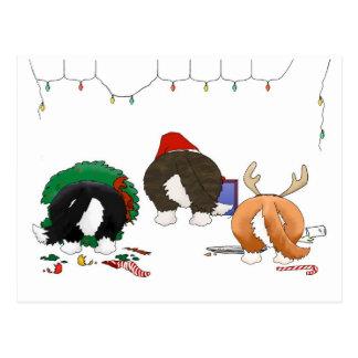 Nothin' Butt A Corgi Christmas Postcard
