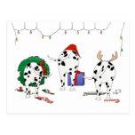 Nothin' Butt A Dalmatian Christmas Postcard