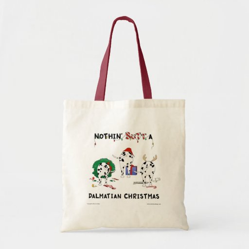 Nothin' Butt A Dalmatian Christmas Tote Bags