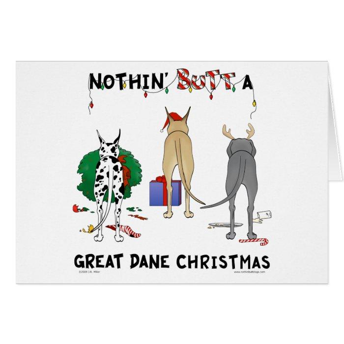 Nothin' Butt A Dane Christmas Card