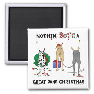 Nothin' Butt A Dane Christmas Magnets