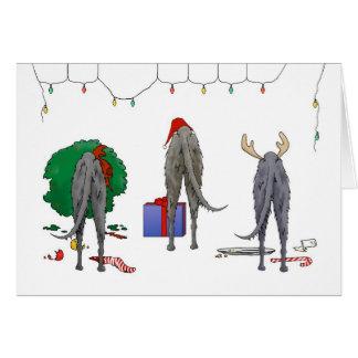 Nothin' Butt A Deerhound Christmas Greeting Card