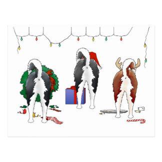 Nothin' Butt A Husky Christmas Postcard