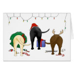 Nothin' Butt A Lab Christmas Greeting Card