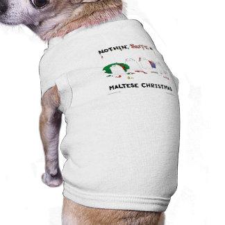 Nothin Butt A Maltese Christmas Pet Shirt