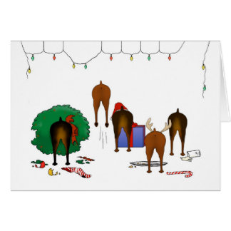 Nothin' Butt A Min Pin Christmas Card