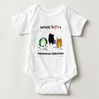 Nothin' Butt A Pomeranian Christmas Baby Bodysuit