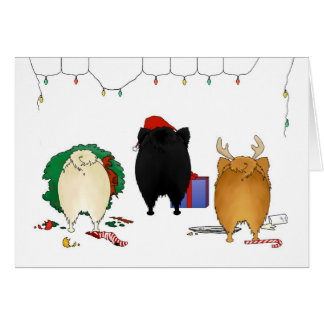Nothin' Butt A Pomeranian Christmas Card