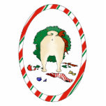 "Nothin&#39; Butt A Pug Christmas Ornament<br><div class=""desc"">Add humor to your Christmas Tree,  with this Pug Butt Christmas Ornament. A naughty Pug,  wearing a chewed wreath,  has broken some ornaments and eaten his stocking stuffers.</div>"