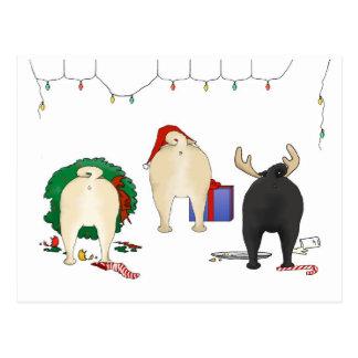 Nothin' Butt A Pug Christmas Post Card
