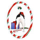 "Nothin&#39; Butt A Rat Terrier Christmas Ornament<br><div class=""desc"">Add humor to your Christmas Tree,  with this Rat Terrier Butt Christmas Ornament. A good Rat Terrier,  wearing a Santa hat,  waiting to open his present and eat his candy cane and holiday cookies.</div>"