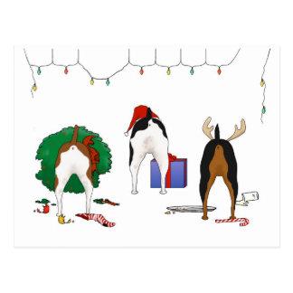 Nothin' Butt A Rat Terrier Christmas Post Cards