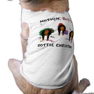 Nothin Butt A Rottie Christmas Dog T-shirt