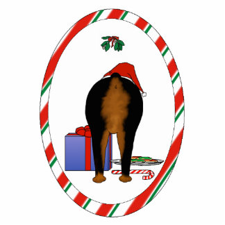 Nothin' Butt A Rottie Christmas Ornament