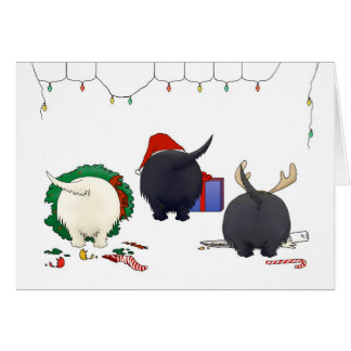 Nothin Butt A Scottie Christmas Greeting Cards