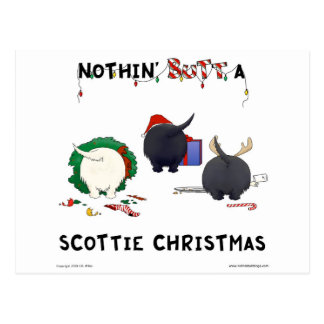 Nothin Butt A Scottie Christmas Post Cards
