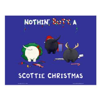 Nothin' Butt A Scottie Christmas Postcard