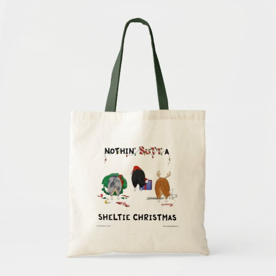 Nothin' Butt A Sheltie Christmas Tote Bag