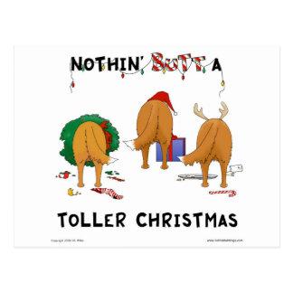 Nothin' Butt A Toller Christmas Postcard