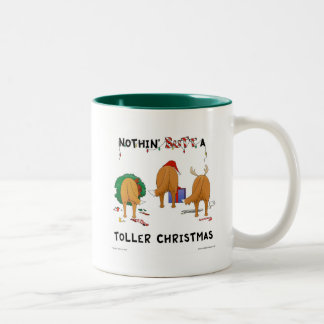 Nothin' Butt A Toller Christmas Two-Tone Coffee Mug