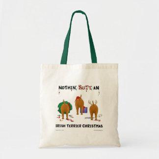 Nothin' Butt An Irish Terrier Christmas Bag