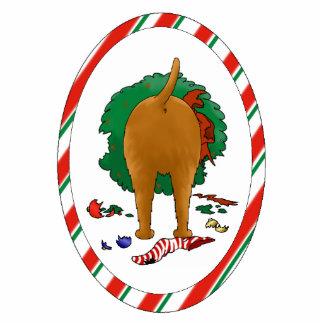 Nothin' Butt An Irish Terrier Christmas Ornament Photo Sculpture