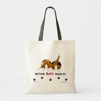 Nothin' Butt Bassets Budget Tote Bag
