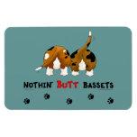 Nothin' Butt Bassets Rectangular Photo Magnet