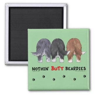 Nothin Butt Beardies Refrigerator Magnets