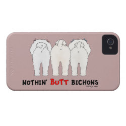 Case-Mate iPhone 4 Barely There Universal Case with Bichon Frise Phone Cases design