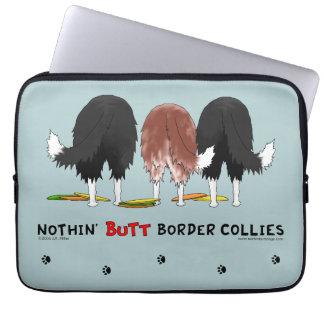 Nothin' Butt Border Collies Laptop Sleeve