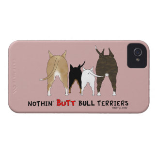 Nothin' Butt Bull Terriers iPhone 4 Case-Mate Cases