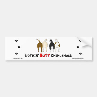 Nothin' Butt Chihuahuas Bumper Sticker Car Bumper Sticker