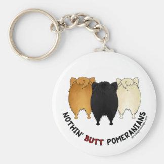 Nothin' Butt Pomeranians Basic Round Button Keychain