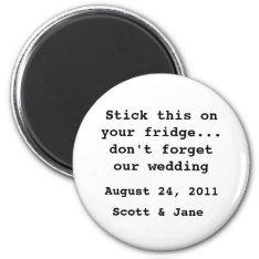 Nothin' Fancy Wedding Magnet at Zazzle