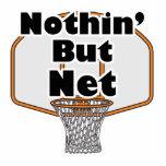 nothin pero aro de baloncesto neto escultura fotografica
