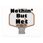 nothin pero aro de baloncesto neto tarjetas postales