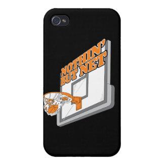 nothin pero diseño neto del baloncesto iPhone 4 fundas