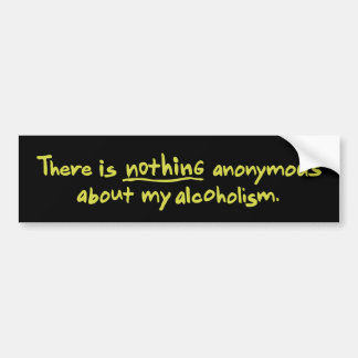 Nothing Anonymous Car Bumper Sticker