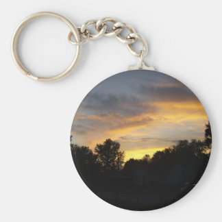 Nothing As Pretty As Kentucky Sunset Basic Round Button Keychain