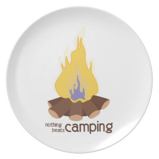 Nothing Beats Camping Melamine Plate