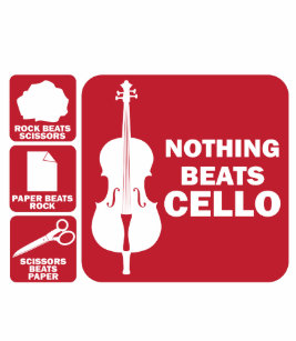 0ad35f20 Nothing Beats Cello Rock Scissor Paper Musician Tote Bag