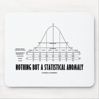 Nothing But A Statistical Anomaly (Stats Humor) Mousepad