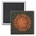 Nothing But Basketball 2 Inch Square Magnet