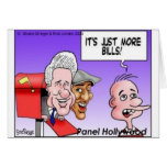 """""""Nothing But Bills"""" Funny Cartoon Gifts & Tees Greeting Card"""
