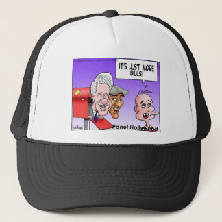 """""""Nothing But Bills"""" Funny Cartoon Gifts & Tees Trucker Hat"""