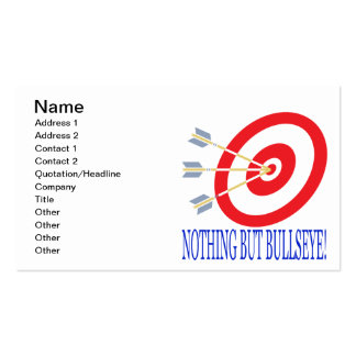 Nothing But Bullseye Double-Sided Standard Business Cards (Pack Of 100)